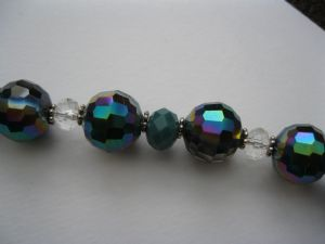 Charcoal and Teal Sparkle Necklace & Earring Kit